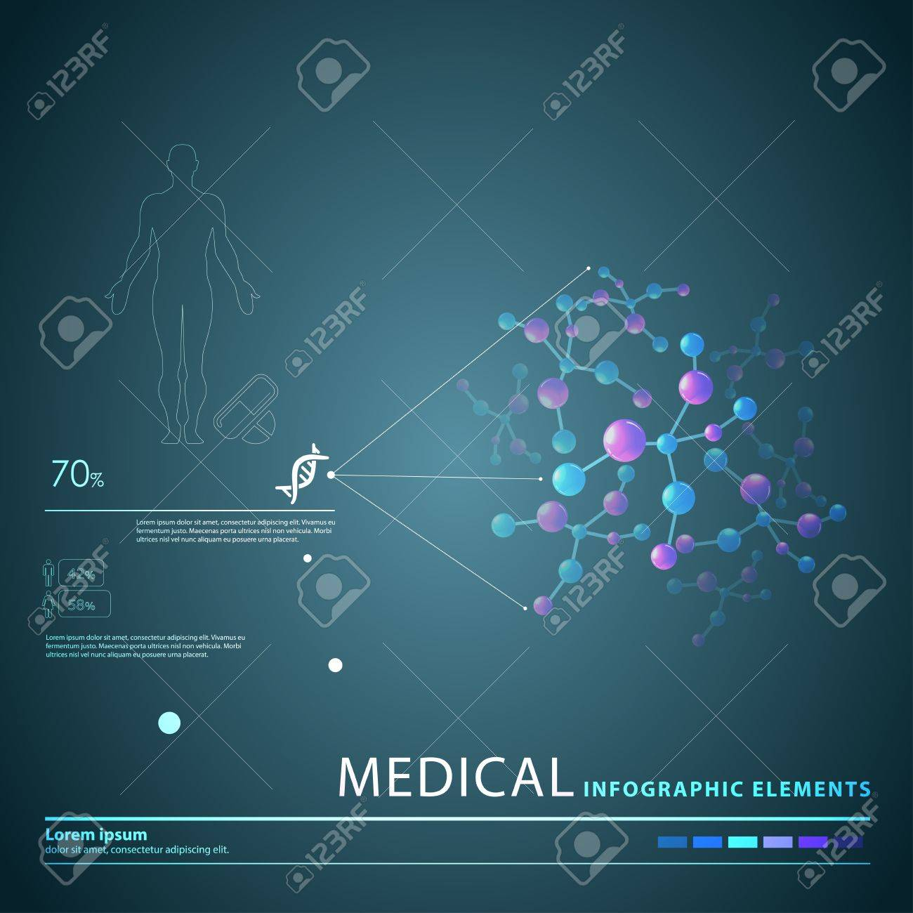 medical infographic elements Stock Vector - 21643716