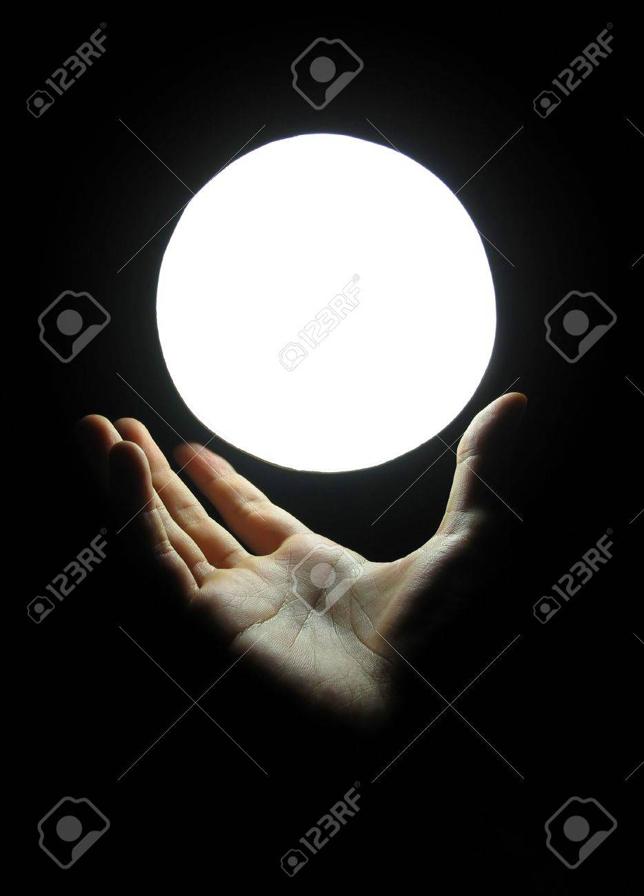 Hand Hold Magic Marble Stock Photo - 4818140