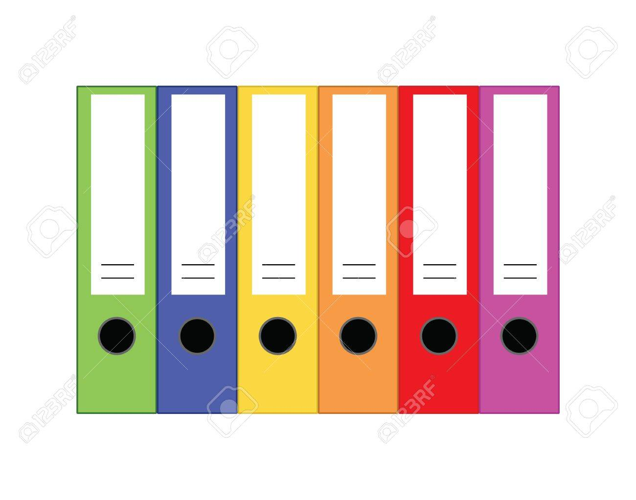 Office Folders Royalty Free Cliparts, Vectors, And Stock ...