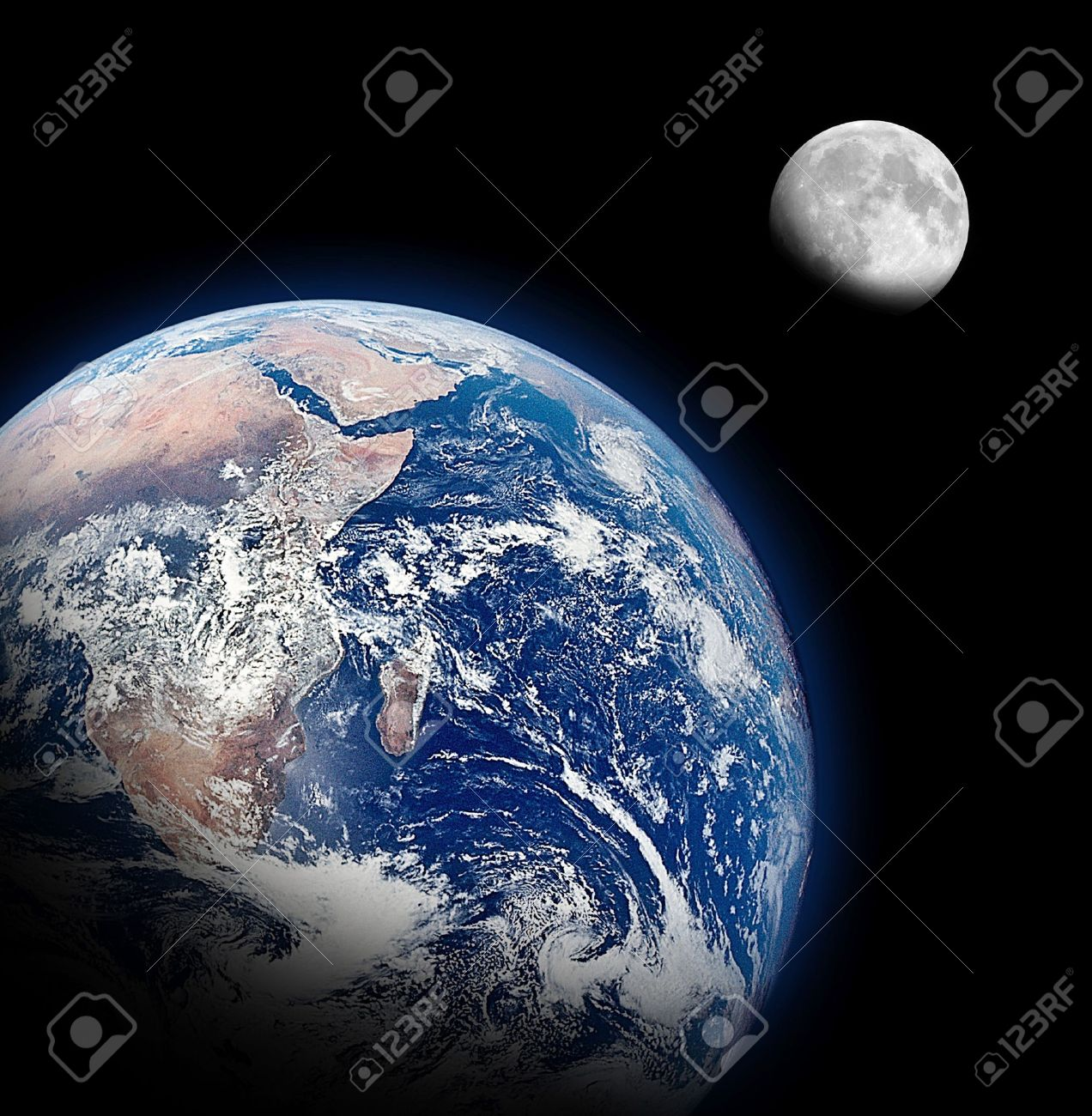 The Half Earth and The Half Moon Background - 13362176