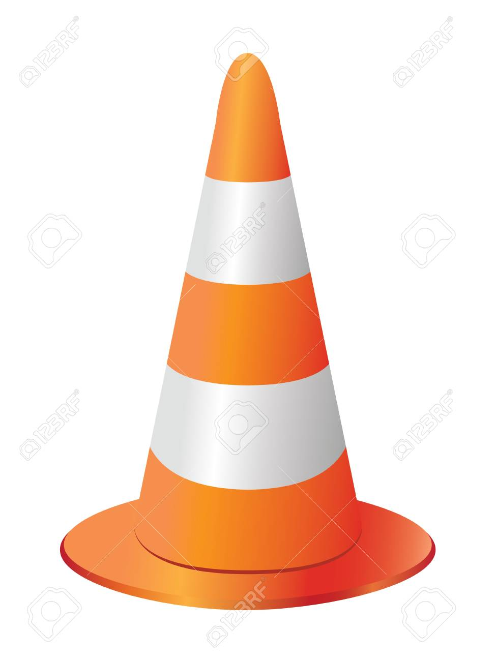 traffic cone isolated on white background Stock Vector - 13638009