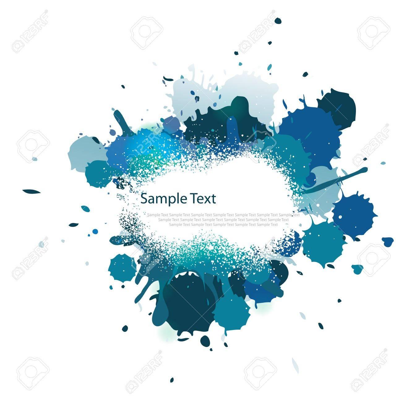 Blue tone color splash on white Stock Vector - 13652506