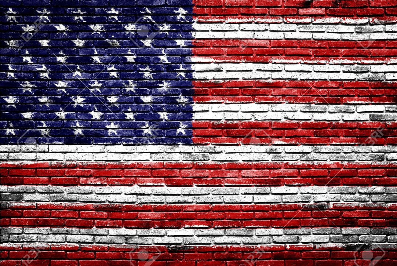 United States Of America Flag Painted On Old Brick Wall Texture - How old is the united states of america