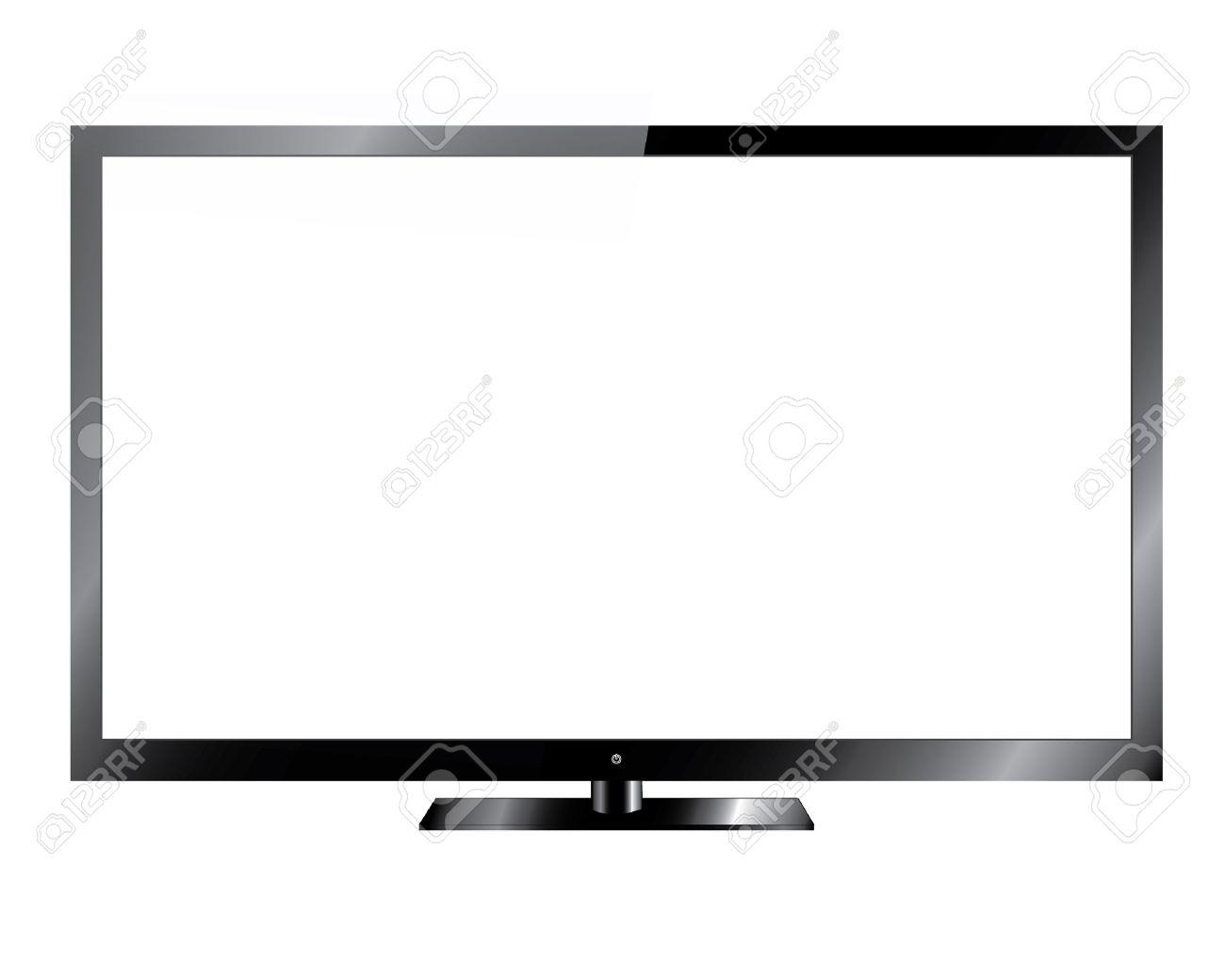 銀の led や液晶テレビ ロイヤリティフリークリップアート、ベクター