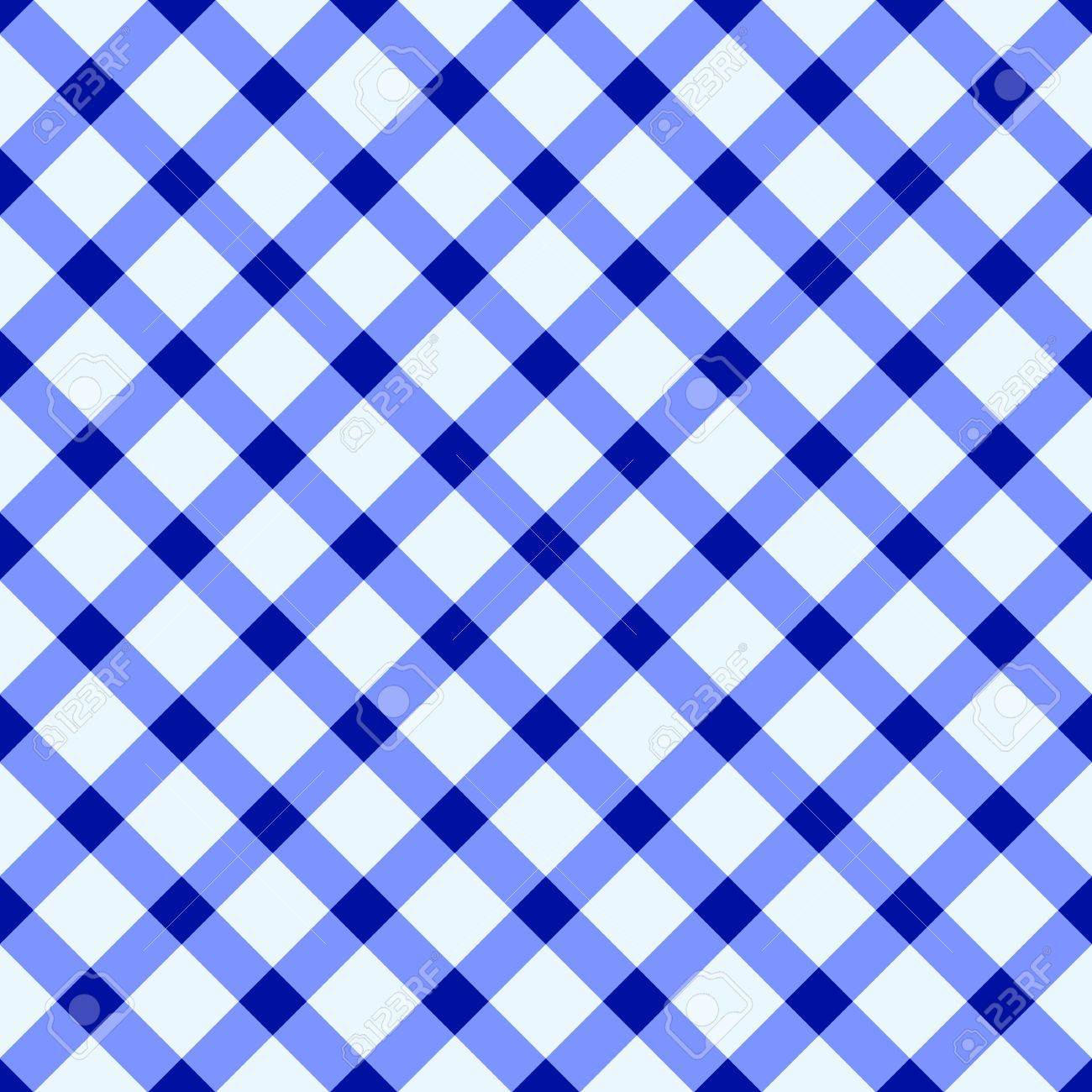 Delicieux Blue And White Checked Tablecloth Stock Vector   14122160