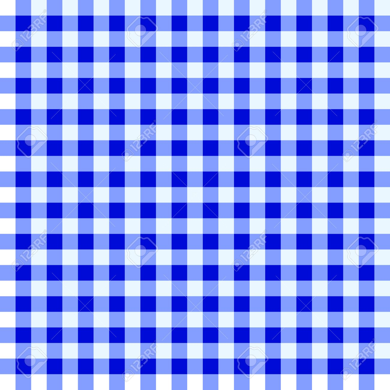 Great Blue And White Checked Tablecloth Stock Vector   14122163