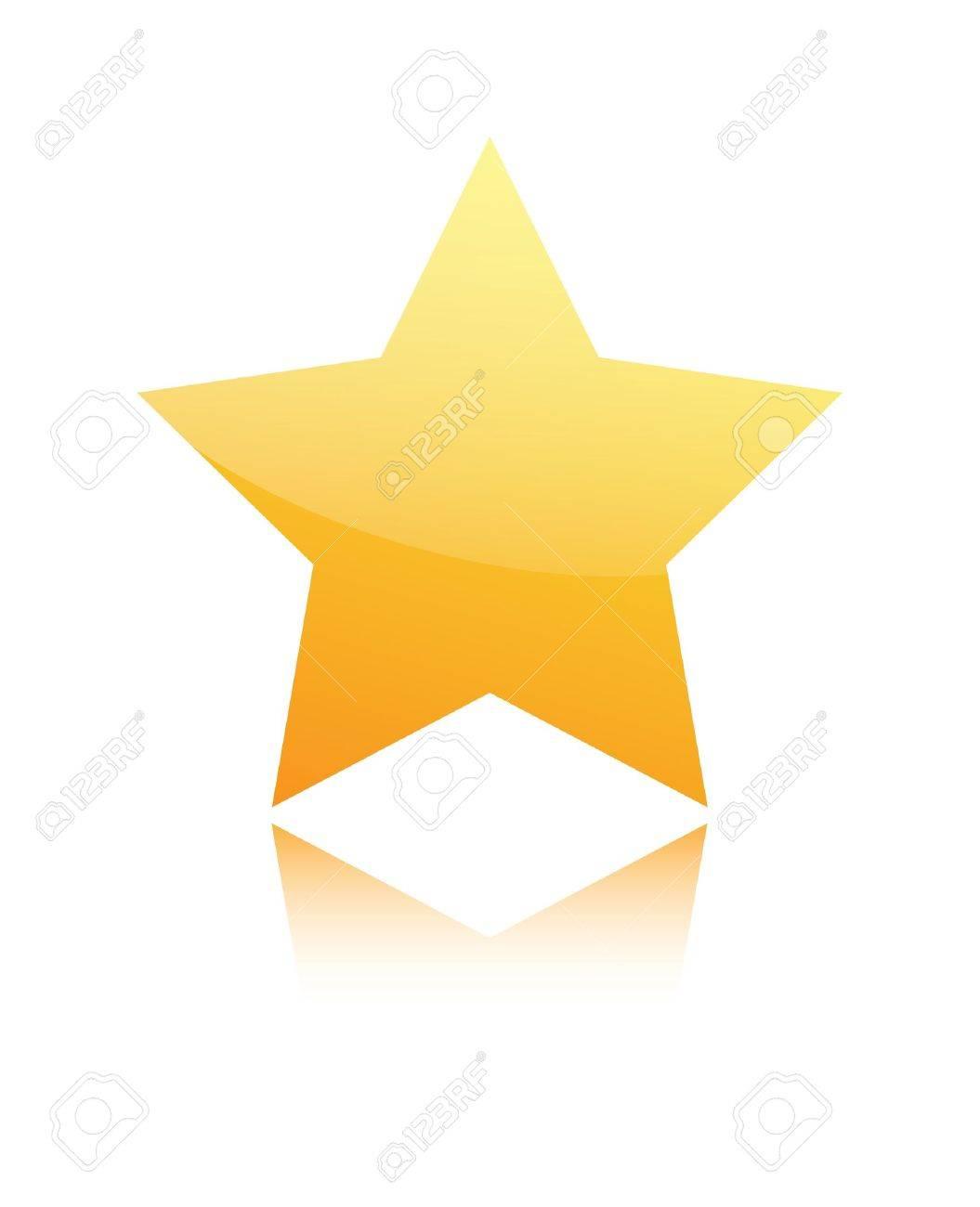 Golden star isolated on white background Stock Vector - 14122122