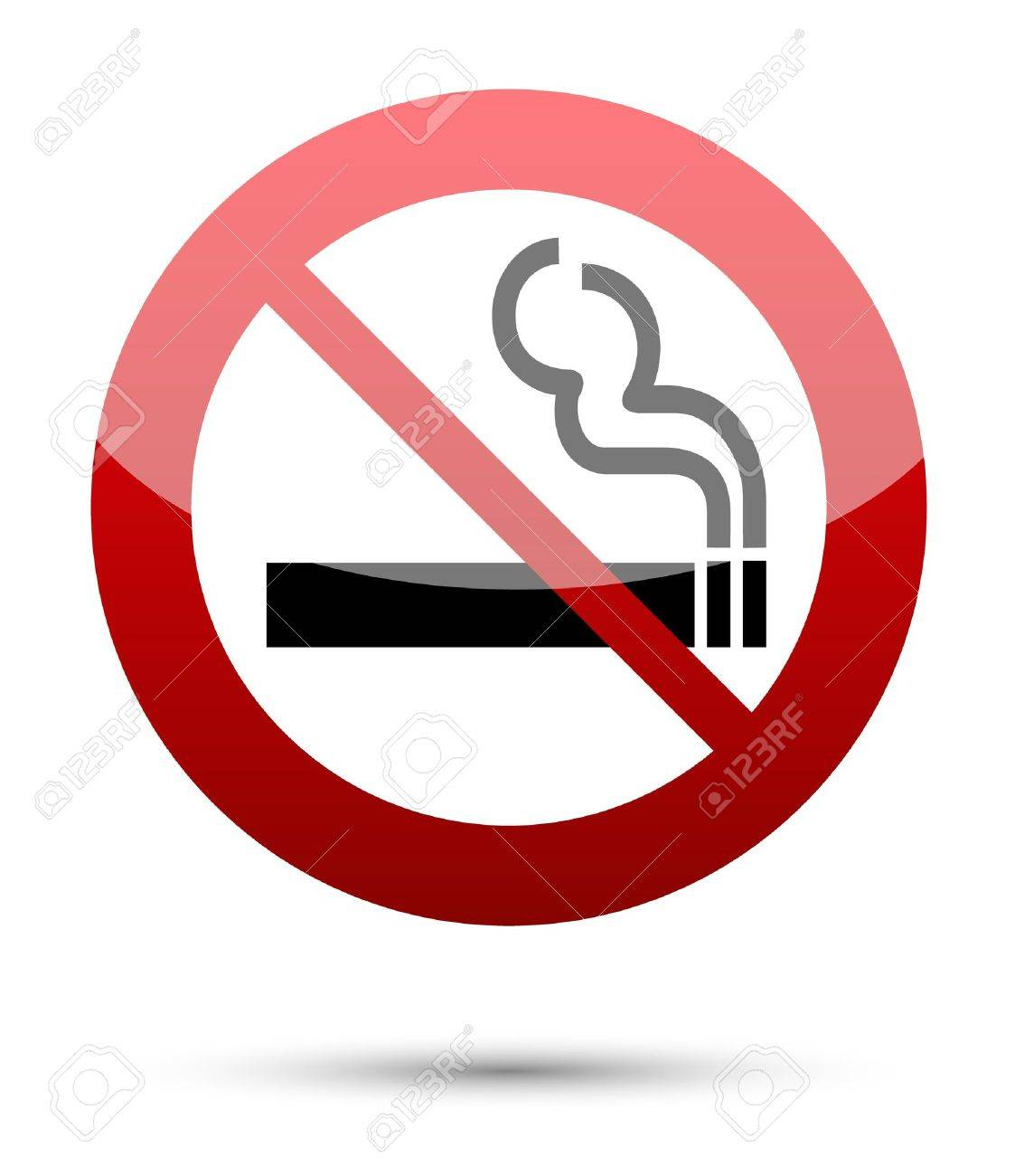 No smoking sign on white Stock Vector - 14122172
