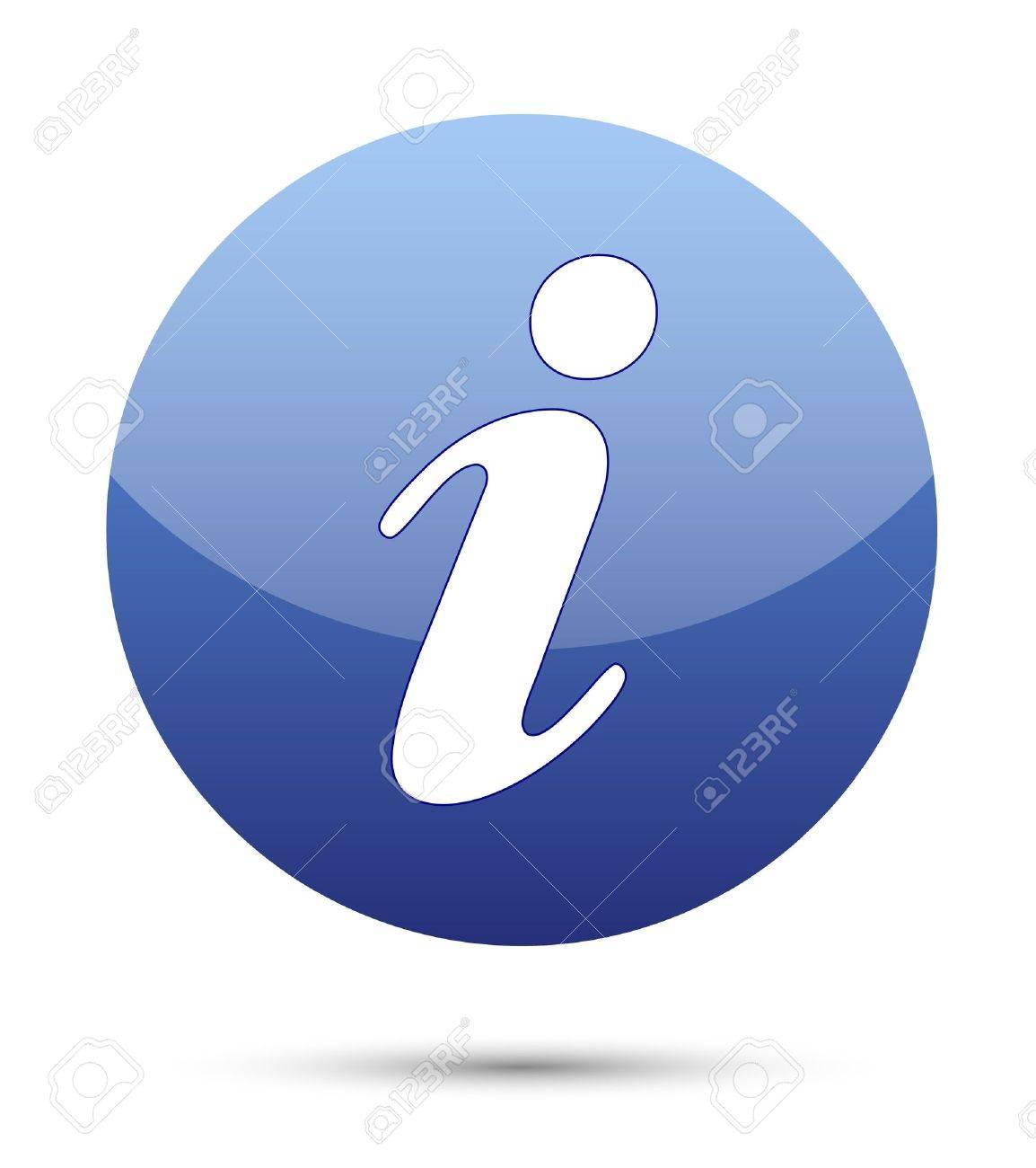 information icon button on white Stock Photo - 14399645
