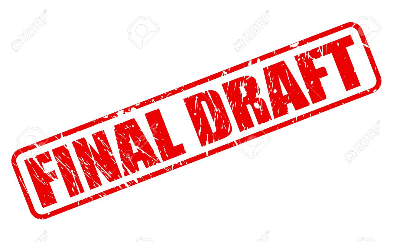 Final draft red stamp text on white Stock Photo - 42666714