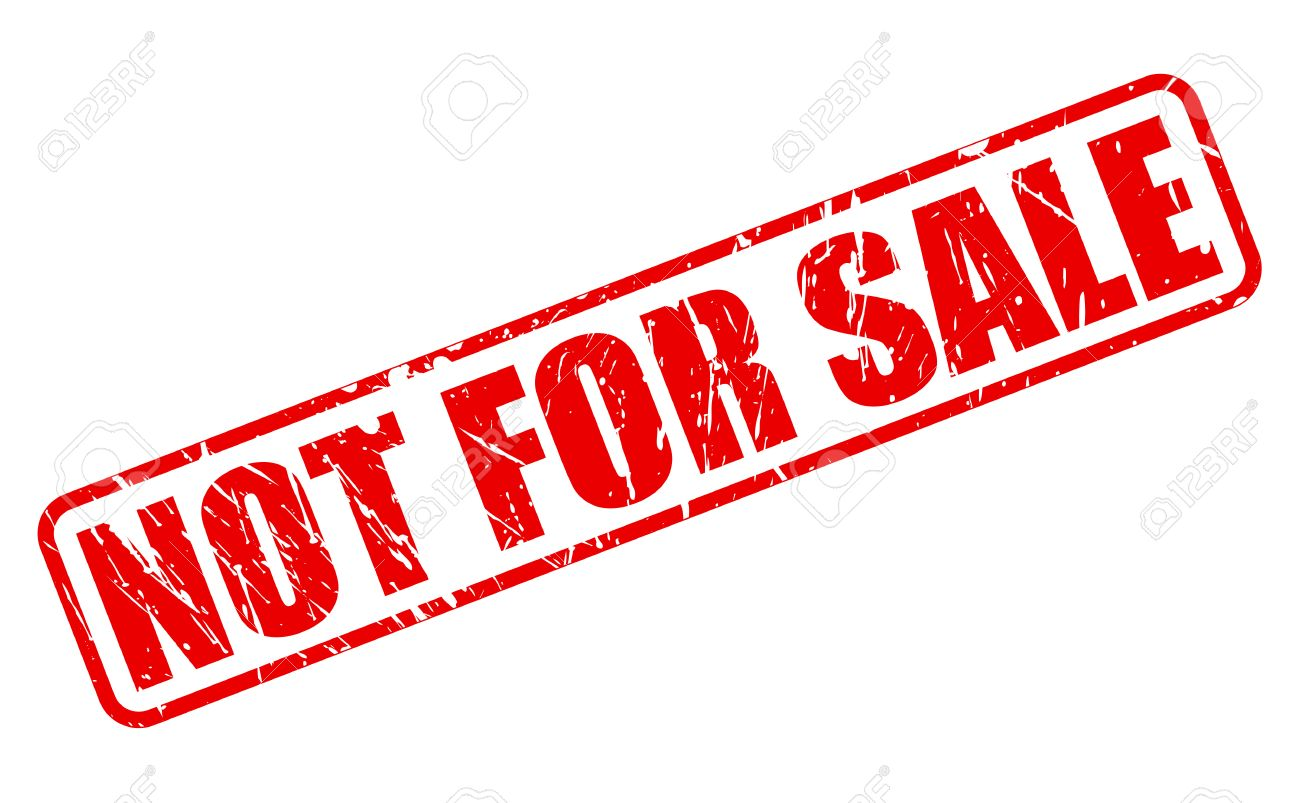 Not For Sale >> Not For Sale Red Stamp Text On White Stock Photo Picture And