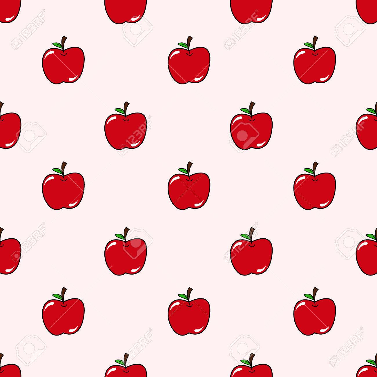 seamless cute apple pattern background royalty free cliparts