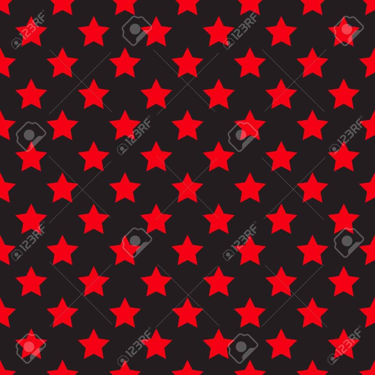 Seamless étoile Rouge Sur Fond Noir