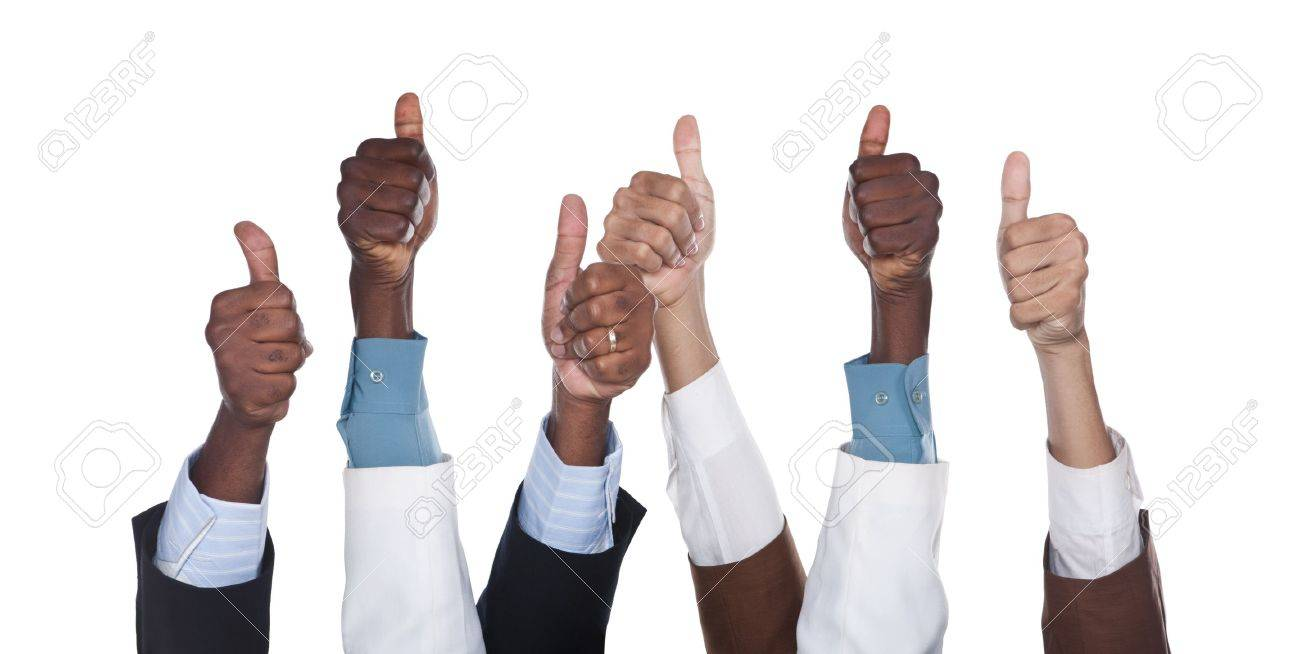 mixed race group business hands, hispanic, caucasian, african american, isolated on white Stock Photo - 6931177
