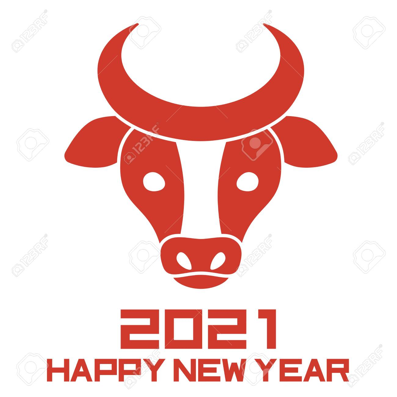Chinese New Year Rubber Stamp Year of The Ox