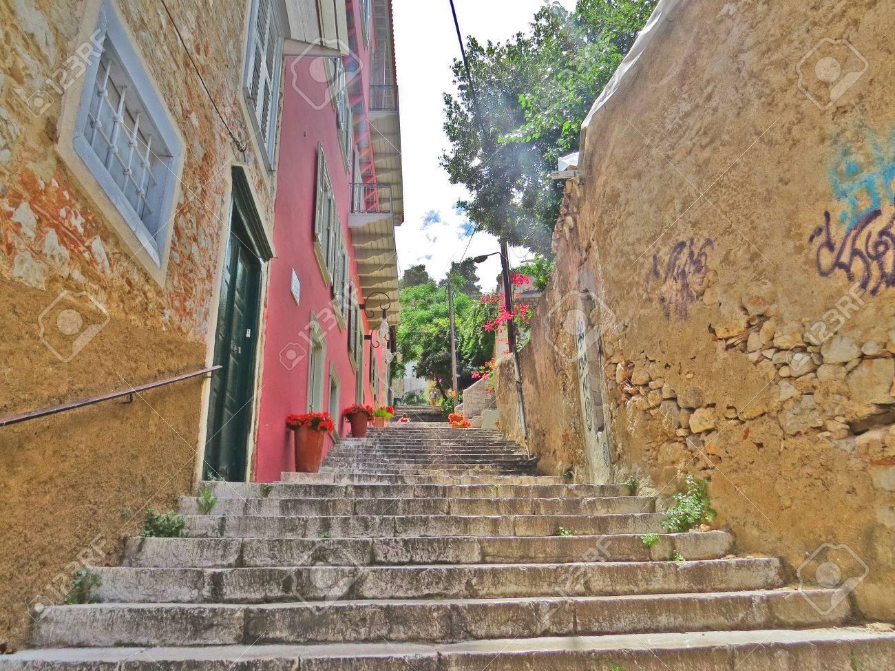 Napfilio ancient village Stock Photo - 80610595