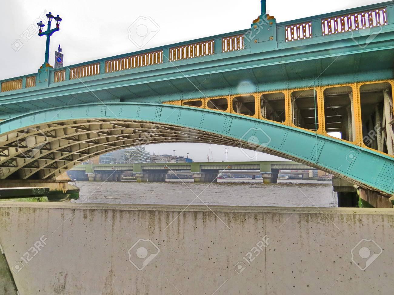 Southwark Bridge in London Stock Photo - 81261049