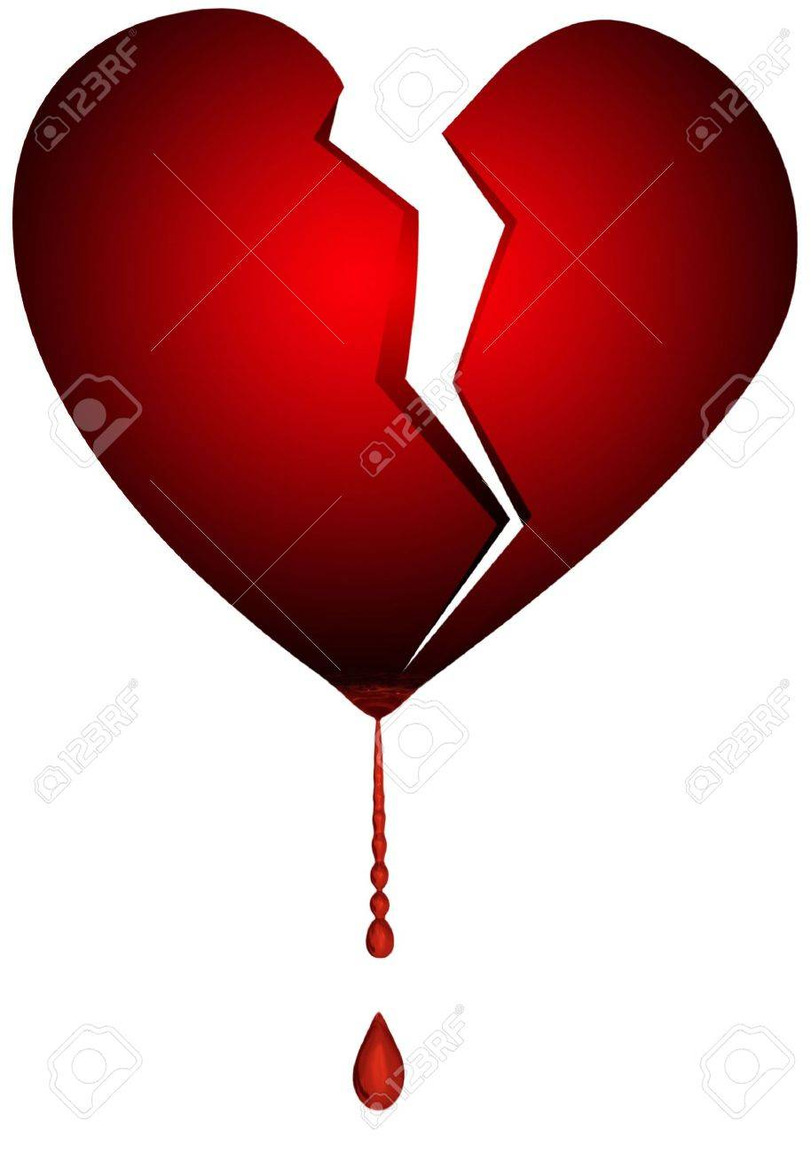 an isolated illustration of a broken heart Stock Photo - 725988