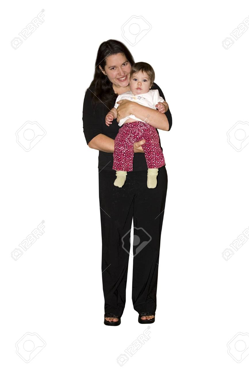 a happy mommy holding her little baby Stock Photo - 845510