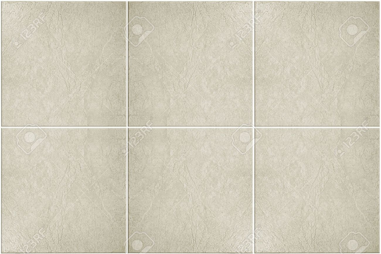 Neutral Colored Floor Tile With White Grout Stock Photo, Picture And ...
