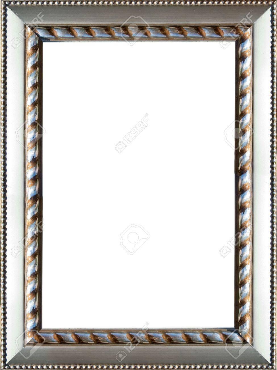 Einen Schönen Verzierten Silber Farbigen Bilderrahmen Lizenzfreie ...