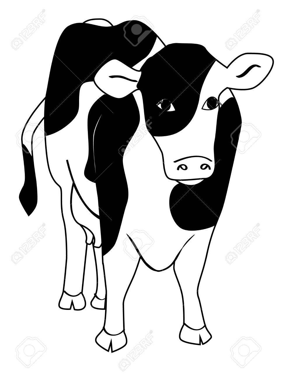 乳牛のイラストのイラスト素材ベクタ Image 9362777