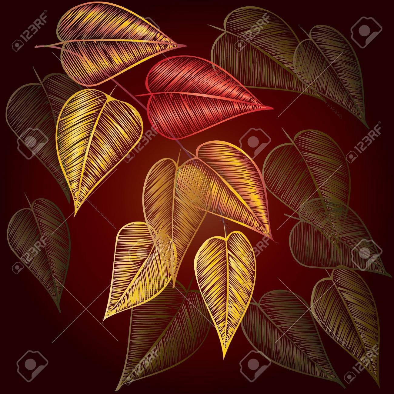 Abstract autumn  foliage background. Banner. Stock Vector - 10827512