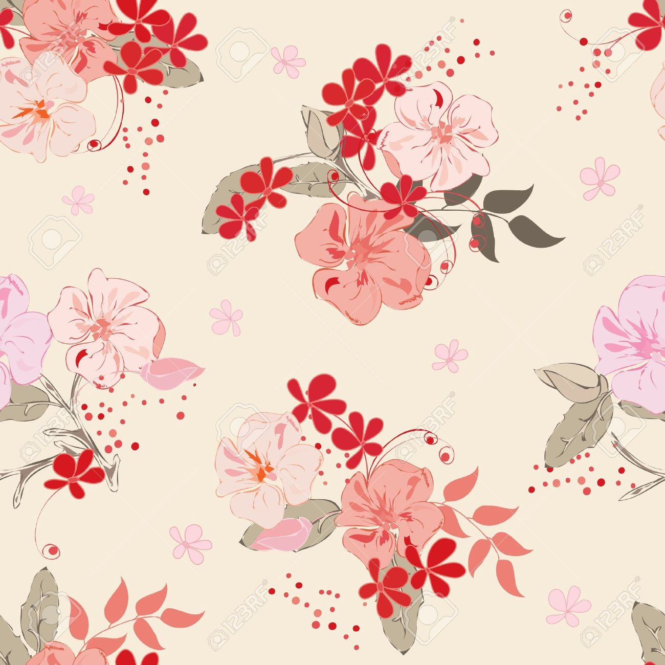 Floral vintage background - Abstract Floral Seamless Pattern Background