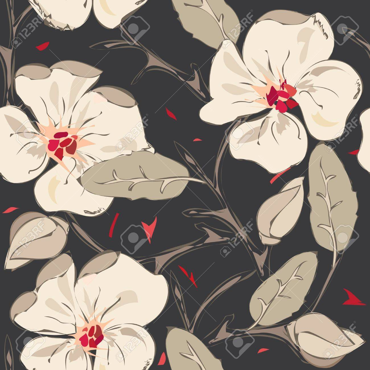 Abstract floral seamless pattern background Stock Vector - 11475828