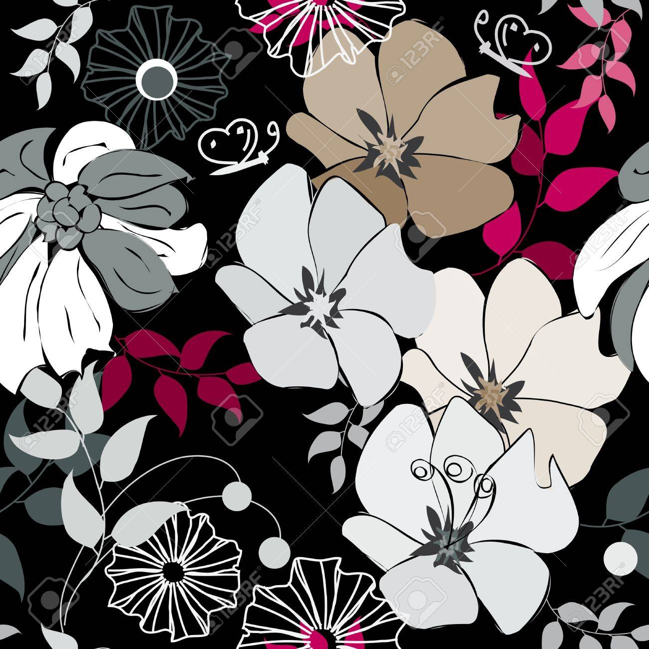Abstract flower seamless pattern background Stock Vector - 11475833