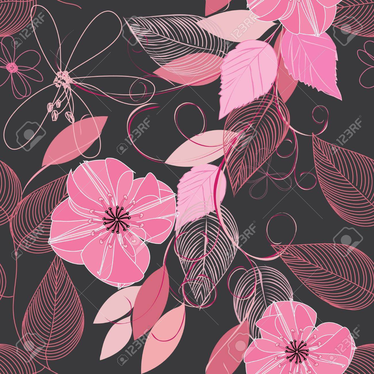 Abstract flower seamless pattern background Stock Vector - 11671016