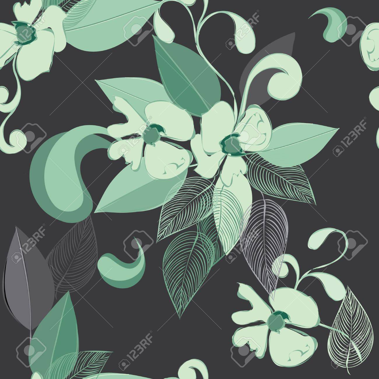 Abstract flower seamless pattern background Stock Vector - 11969330