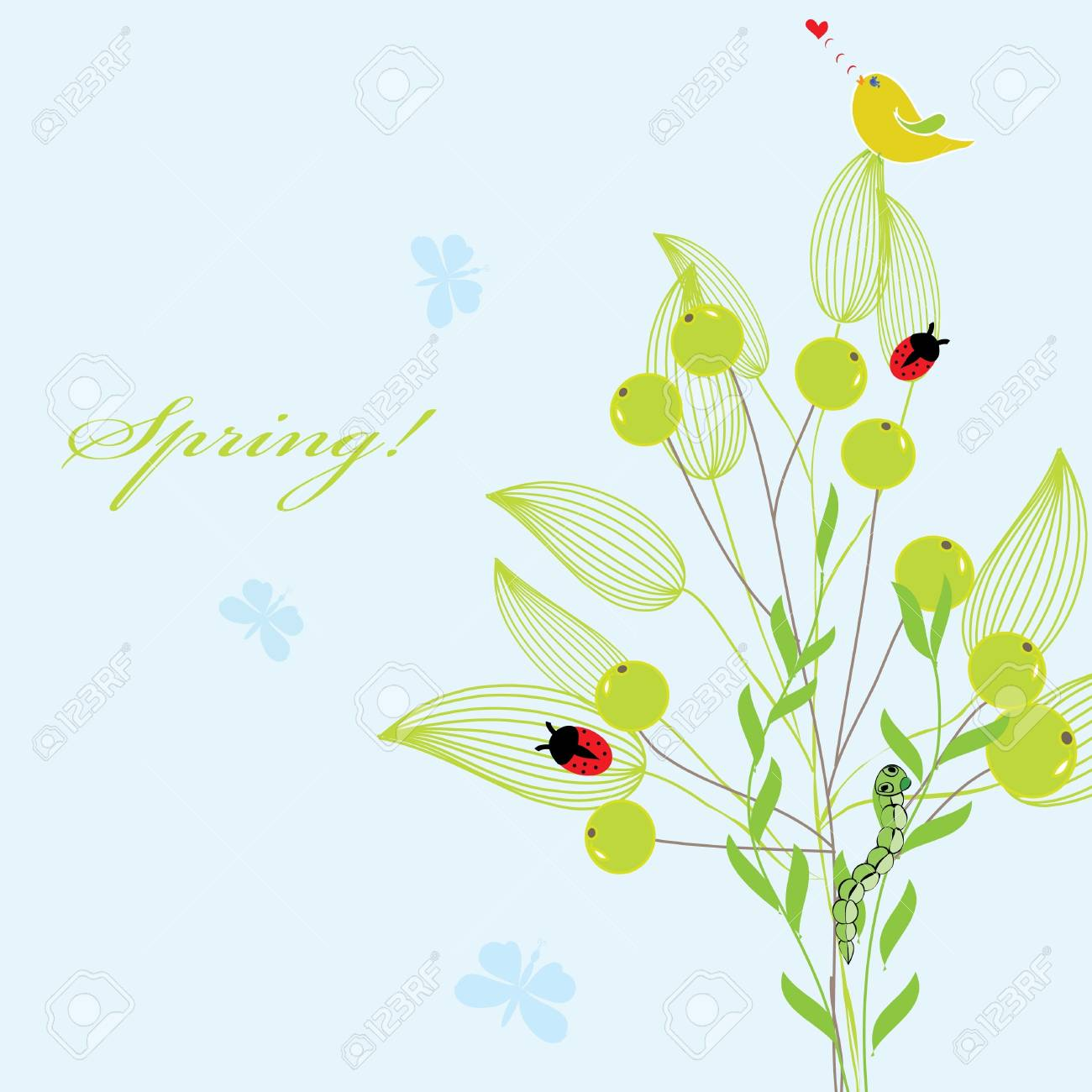 Abstract spring background Stock Vector - 12812990