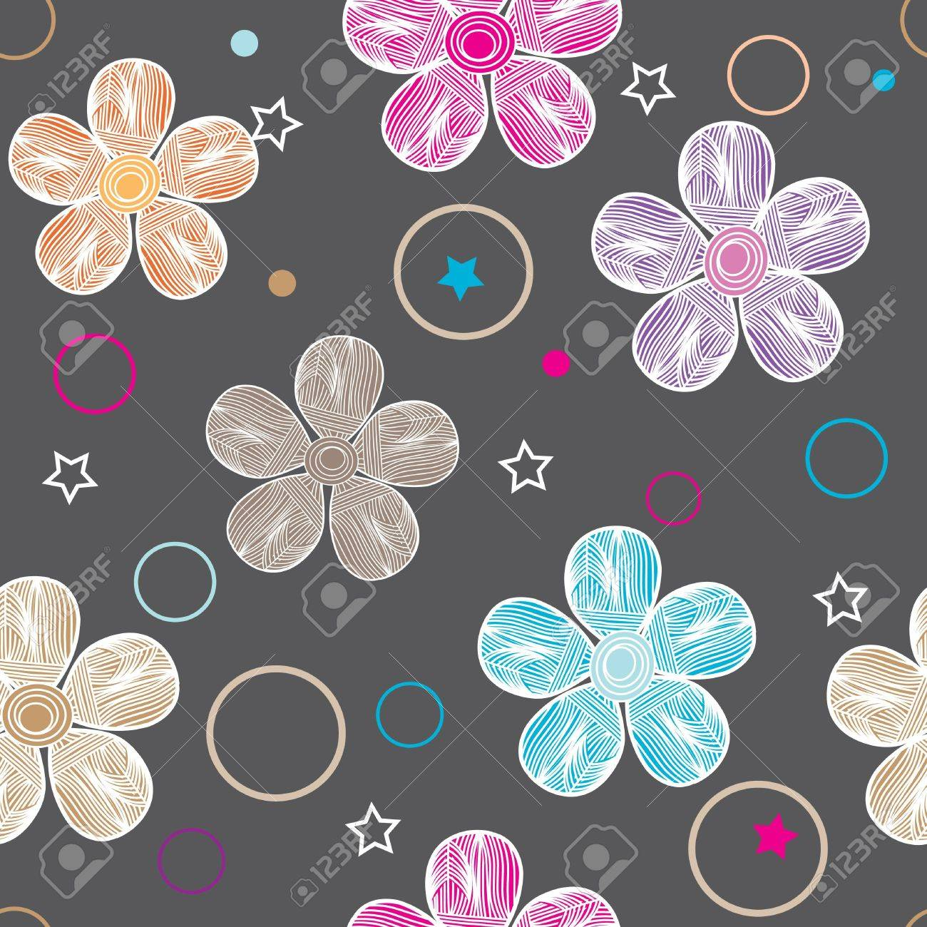 Abstract flower seamless pattern background Stock Vector - 13034765