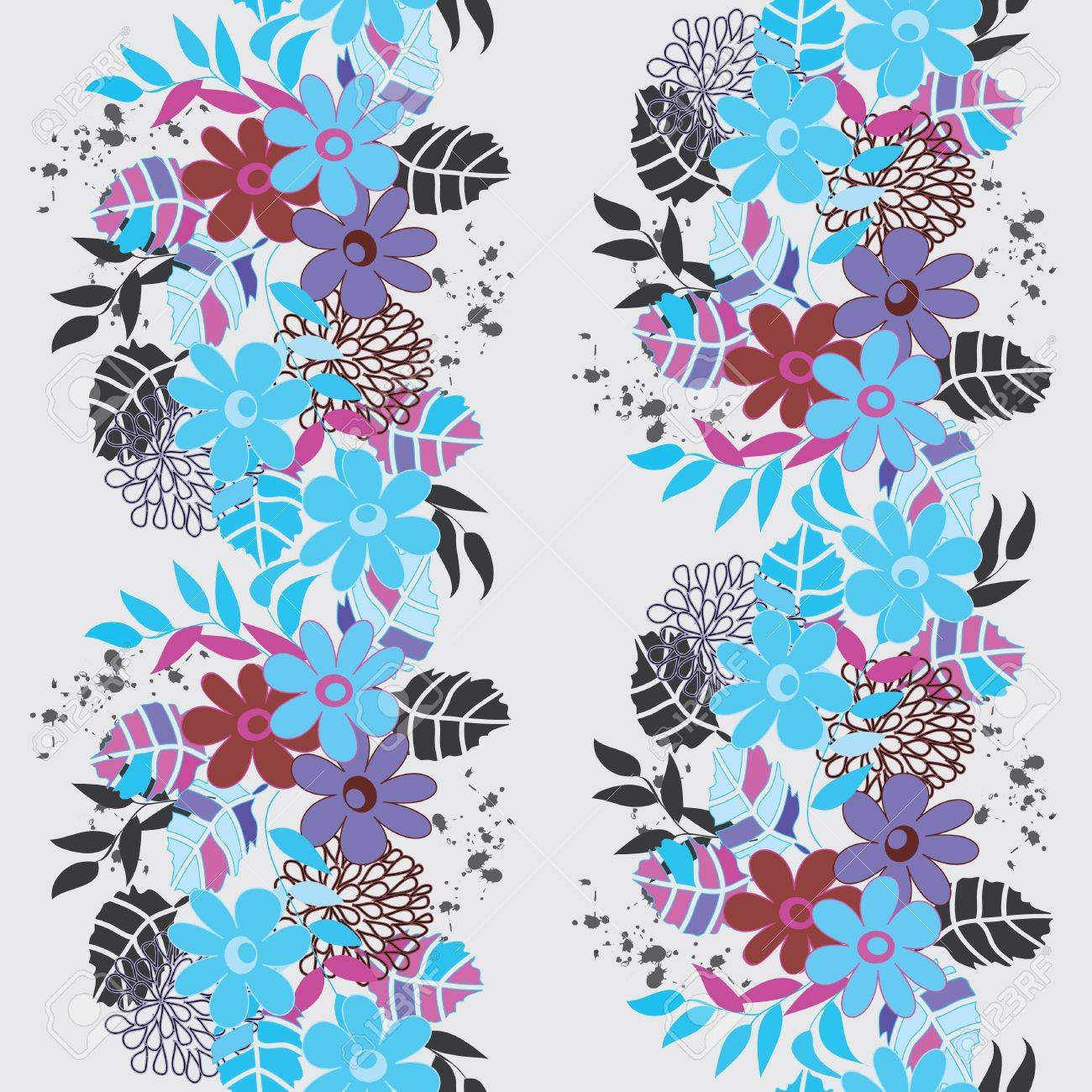 Abstract vertical flower seamless pattern background Stock Vector - 14003036