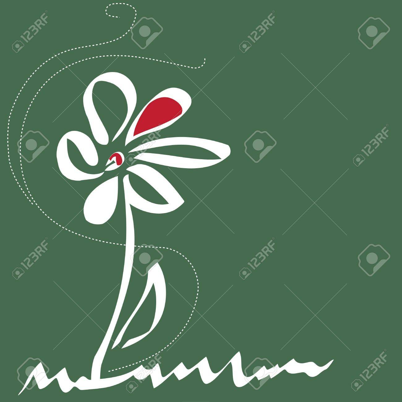 Stylish flower  backgrounds.Logo. Stock Vector - 14445980