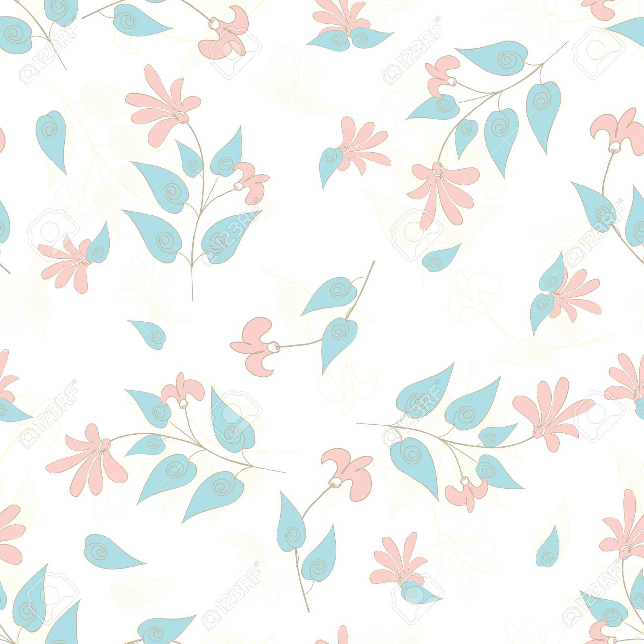 Abstract flower seamless pattern background Stock Vector - 15708071