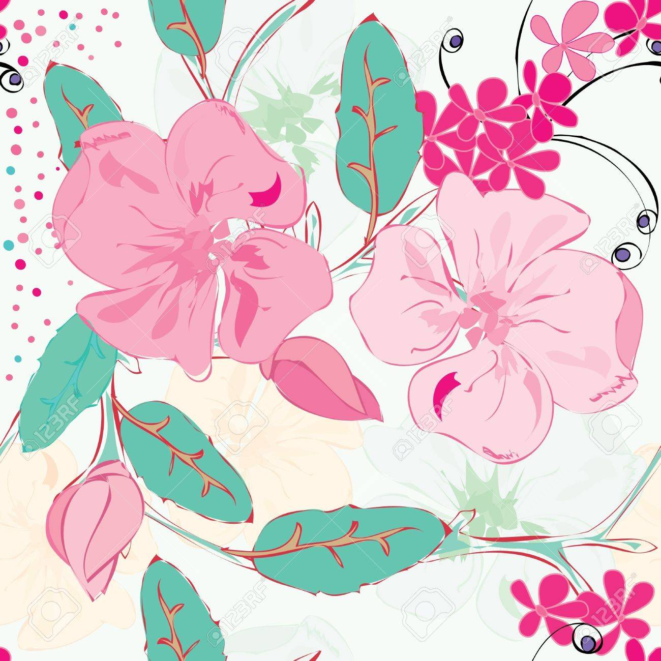 Abstract floral seamless pattern background Stock Vector - 20049486