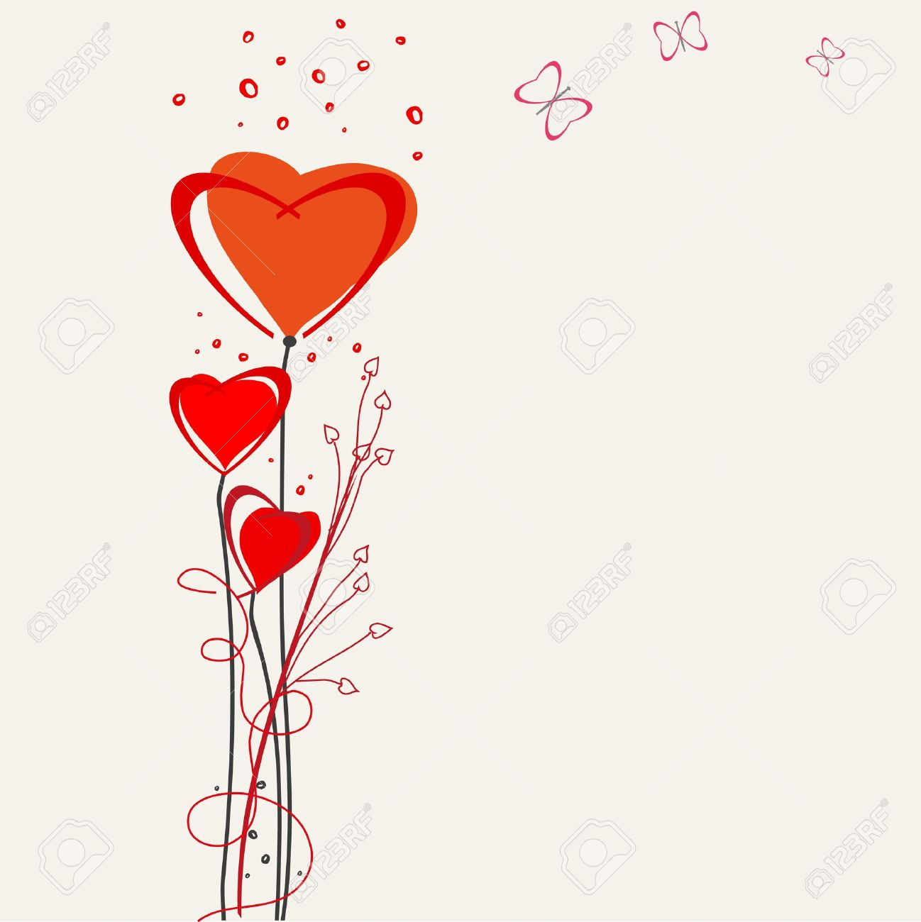 Romantic Valentine Backgrounds. Valentines Day. Royalty Free ...