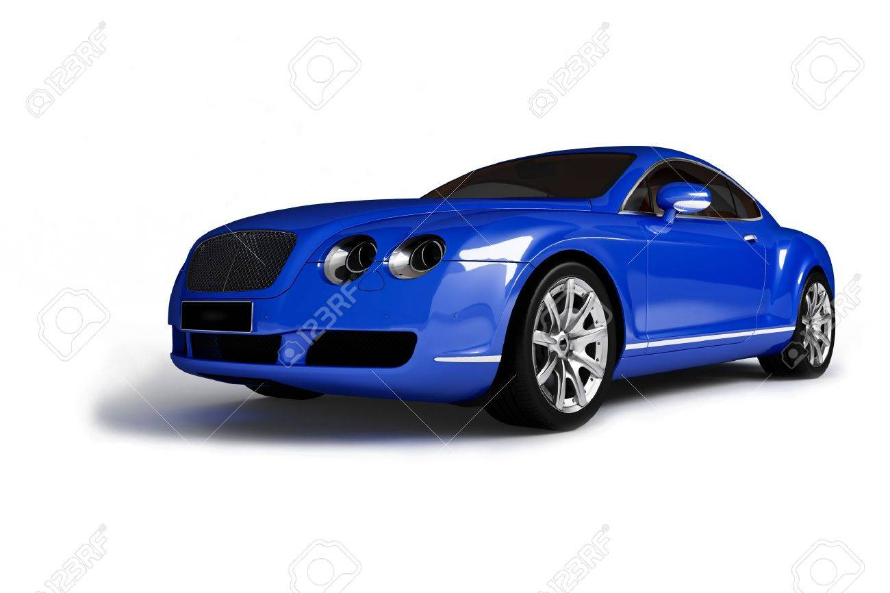 Blue Modern Car Stock Photo, Picture And Royalty Free Image. Image ...