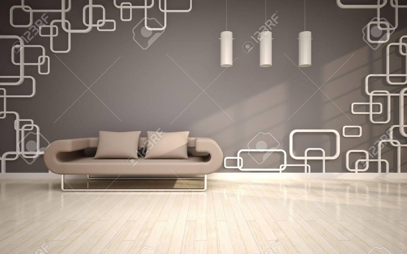 Modernt vardagsrum med beige soffa royalty fria stockfoton, bilder ...