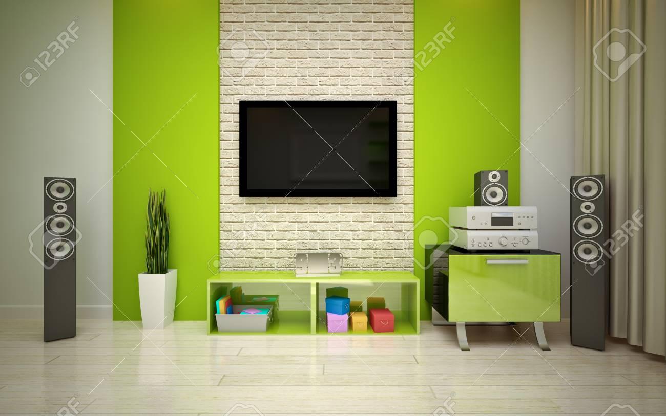 modern living room Stock Photo - 16499990