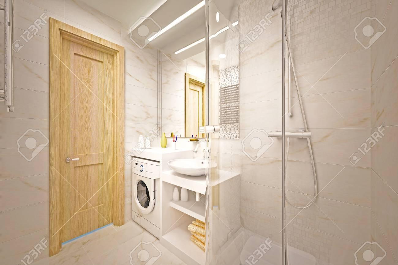 modern interior of bathroom Stock Photo - 16500096