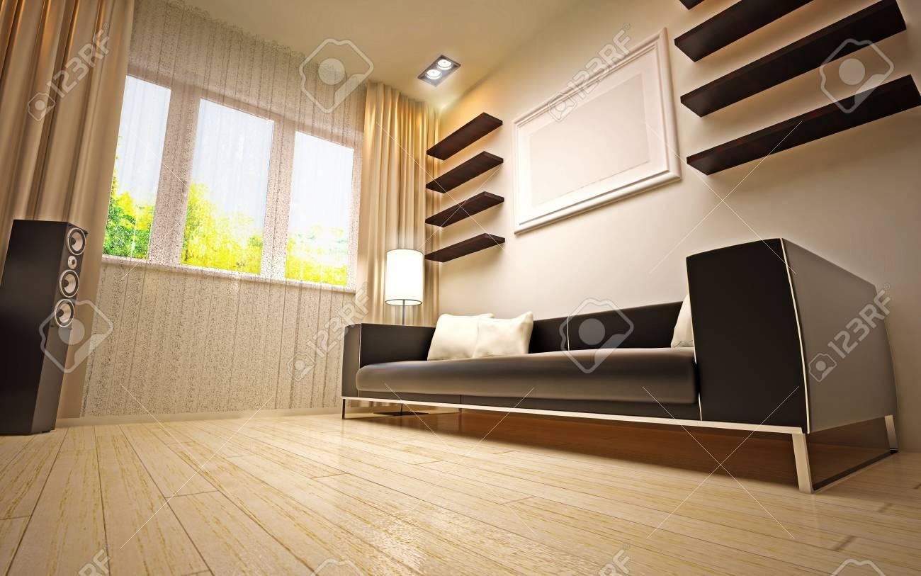 modern living room Stock Photo - 16506660