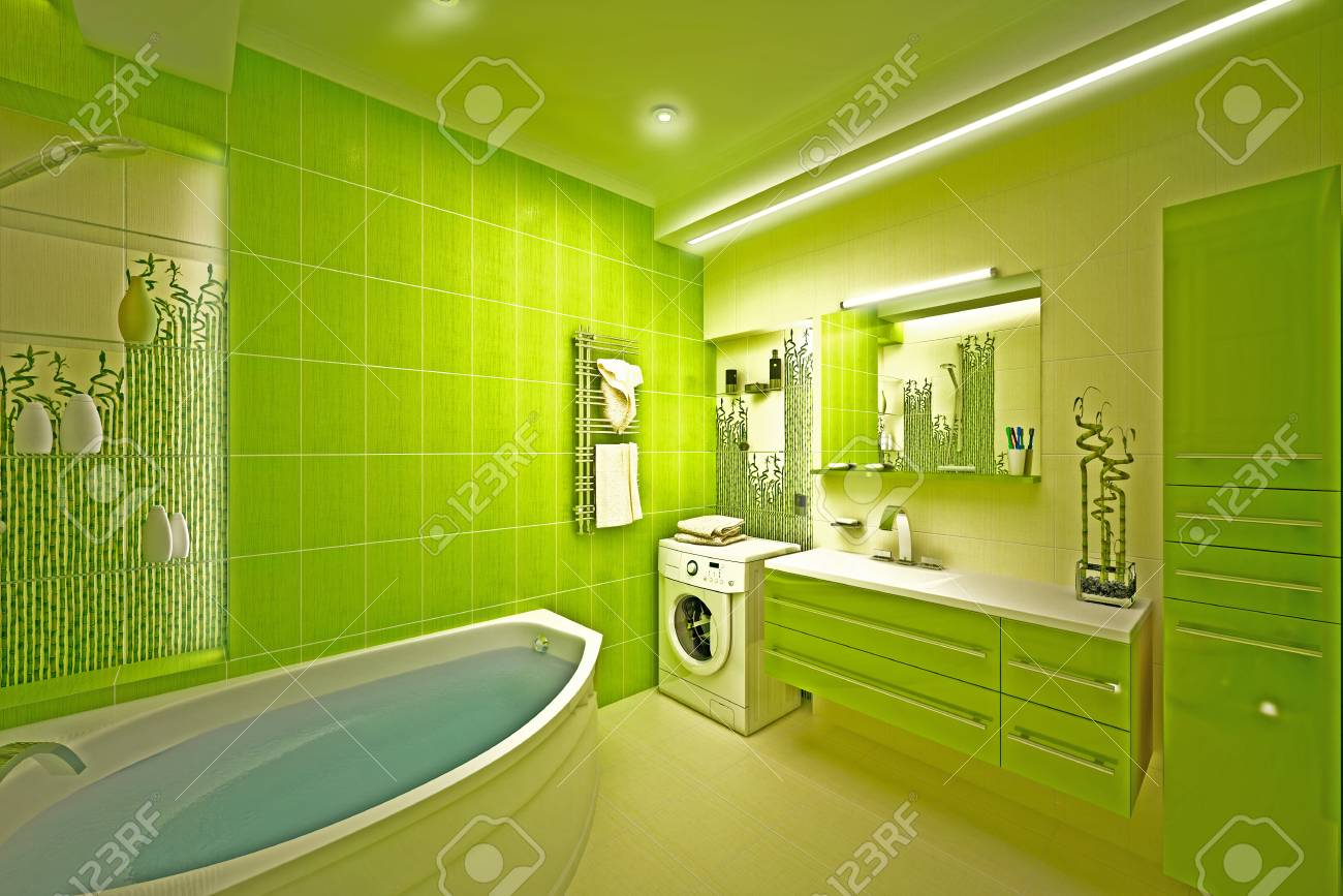 Eco, bamboo bathroom Stock Photo - 17013231