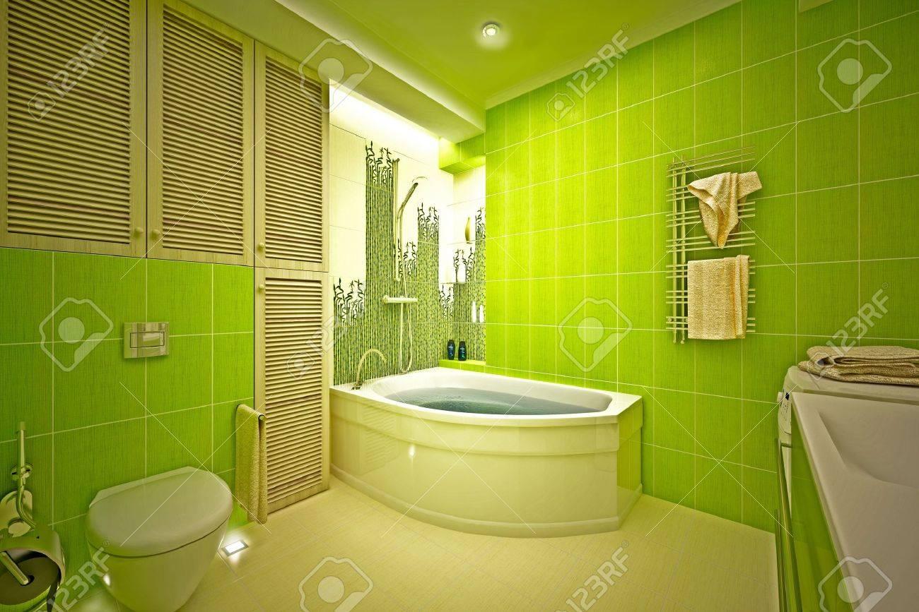 Eco, bamboo bathroom Stock Photo - 17013240