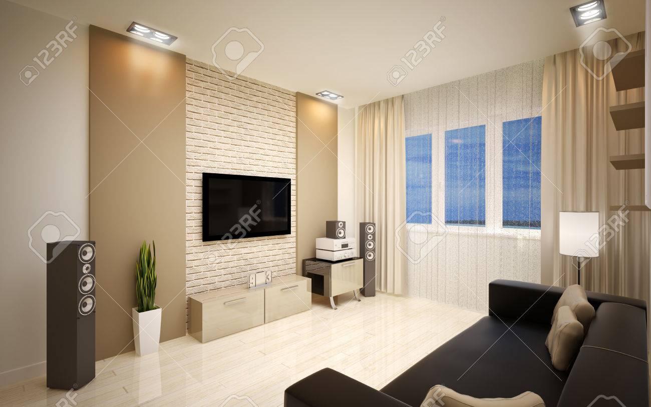Moderne wohnzimmer hellen beigetönen lizenzfreie bilder 24872124