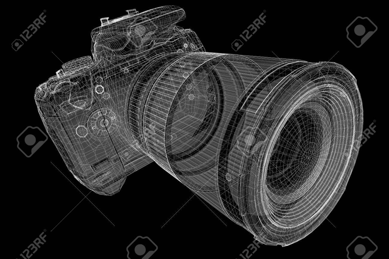 Camera Wire Model Wiring Diagram Electrical 600tvl Black Digital 3d Body Structure Stock Photo Backup