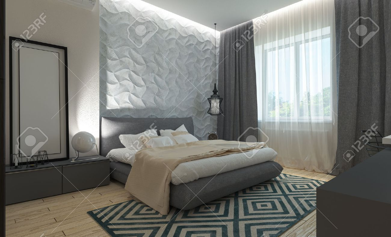 Modern Style Bedrooms Master Bedroom With Dressing Room 3d Panels In A Modern Style