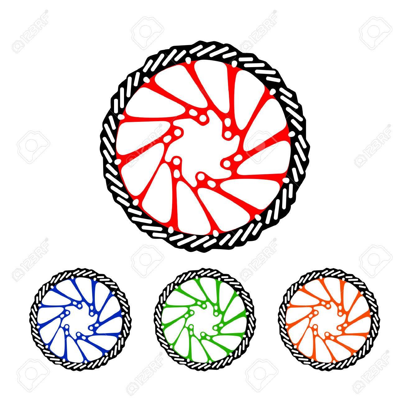 Bicycle Parts Brake Disk Set Royalty Free Cliparts Vectors And